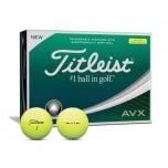 Golfipallid Titleist AVX kollane (pakendis 12tk)