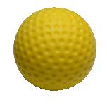 Kollane UV-blacklight helendav minigolfi pall