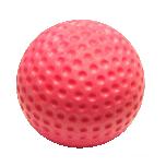 Punane UV-blacklight helendav minigolfi pall