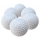 Minigolfi pallid, valge, 6-pakk